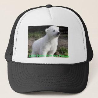 polar bears love you Helpers Trucker Hat