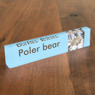 Polar Bears Name Plate