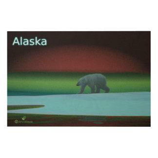 Polar Lights Polar Bear Wood Prints