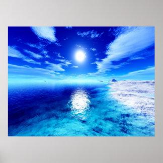 Polar Sunset Poster