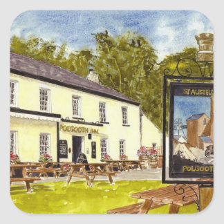 'Polgooth Inn' Square Sticker