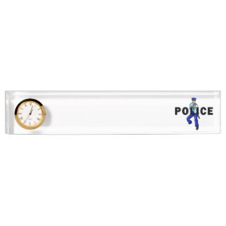 Police Action Logo Name Plate