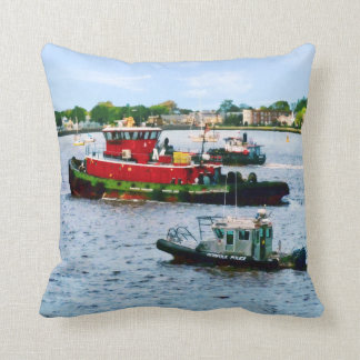 Police boat and Two Tugboats Cushion