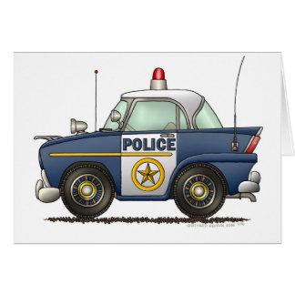 Police Car Law Enforcement Card