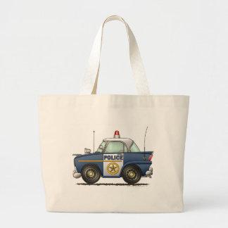 Police Car Law Enforcement Large Tote Bag