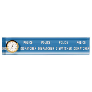 Police Dispatcher Name Plate