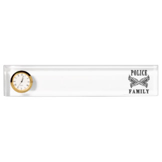 Police Family Tattoo Name Plate