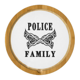 Police Family Tattoos Round Cheeseboard