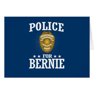 POLICE FOR BERNIE SANDERS CARD