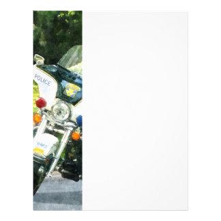Police Motorcycle 21.5 Cm X 28 Cm Flyer