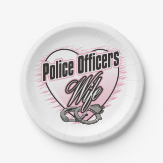 Police Officers Wife 7 Inch Paper Plate