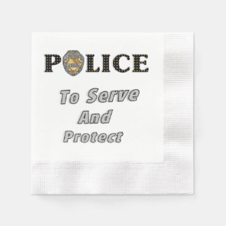 Police Protect and Serve Disposable Napkin