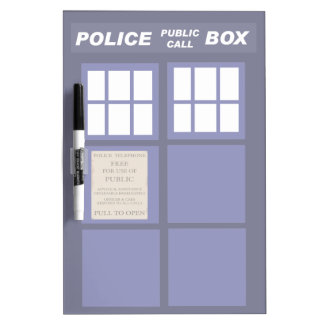 Police Public Call Phone Box Dry-Erase Boards