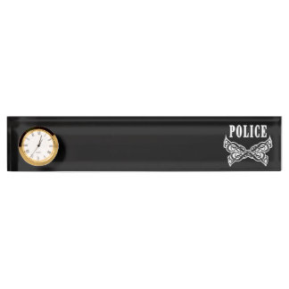 Police Tattoo Name Plate