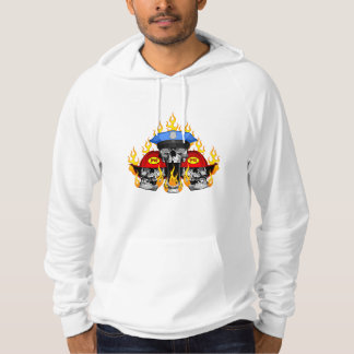 Police with Firefighter Skulls Hoodie