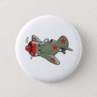 polikarpov i-16 6 cm round badge