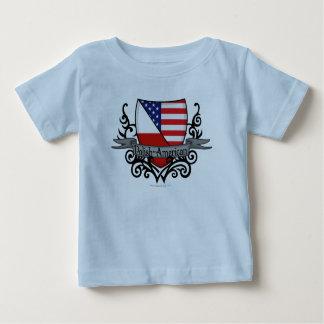 Polish-American Shield Flag Baby T-Shirt
