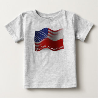 Polish-American Waving Flag Baby T-Shirt