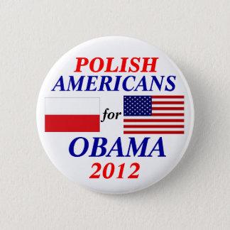 Polish americans for Obama 6 Cm Round Badge