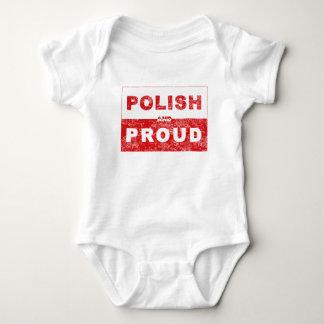Polish and Proud Flag Baby Bodysuit