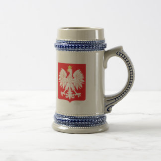 Polish Eagle Red Shield Beer Stein