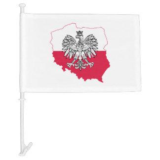 Polish Flag Car Flag