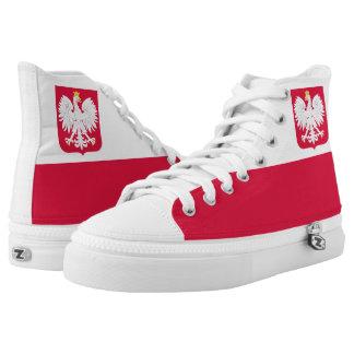 Polish Flag Printed Shoes