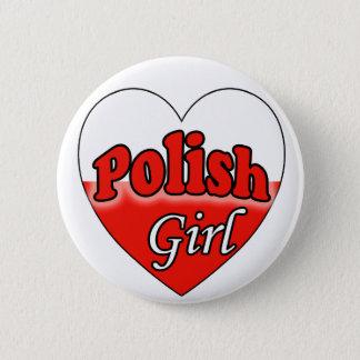 Polish Girl 6 Cm Round Badge