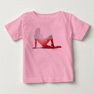 Polish Girl Silhouette Flag Baby T-Shirt