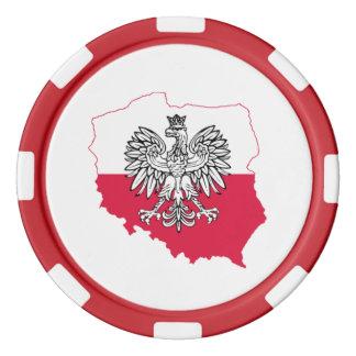 Polish Map Flag Poker Chips