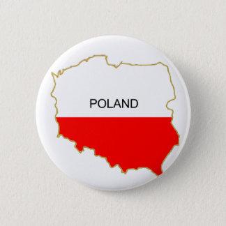 Polish Map png 6 Cm Round Badge