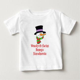 Polish Merry Christmas Snowman Baby T-Shirt