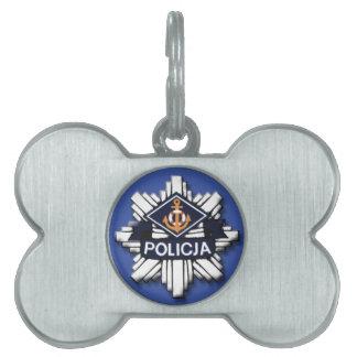 Polish Policja Police Badge  Dog Bone Tag
