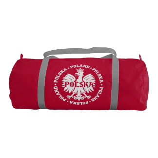 Polish Polska Eagle Emblem Gym Bag