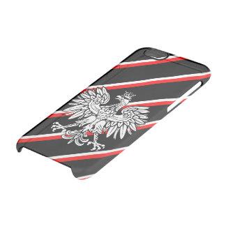 Polish stripes flag clear iPhone 6/6S case