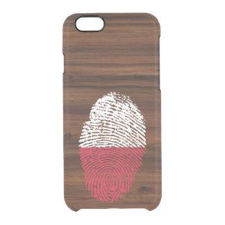 Polish touch fingerprint flag clear iPhone 6/6S case