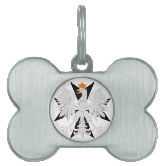 Polish White Eagle Maltese Cross  Dog Bone Tag Pet ID Tags