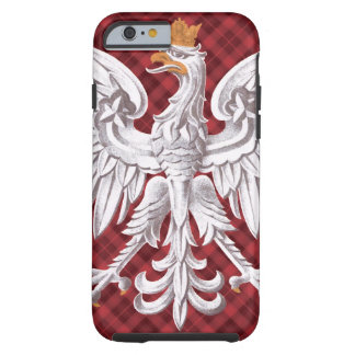 Polish White Eagle Plaid Tough iPhone 6 Case