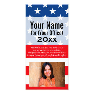 Political Campaign Non-Partisan Printed Candidate Photo Card Template