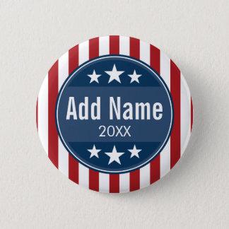 Political Campaign - Patriotic Stars and Stripes 6 Cm Round Badge