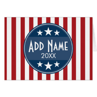 Political Campaign - Patriotic Stars and Stripes Card