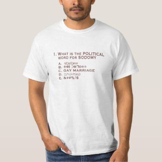 Political Gay Marriage T-Shirt