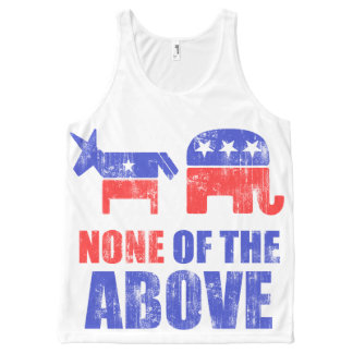 Political None Of The Above All-Over Print Singlet