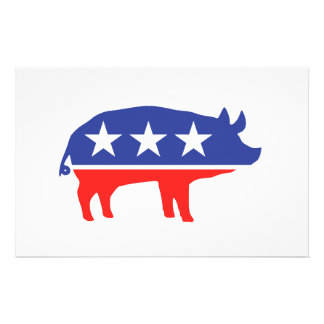 Political Party Pig Mascot Stationery