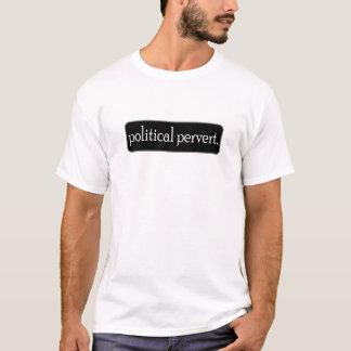 political pervert black tee