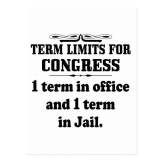 Politics Term Limits For Congress Post Cards