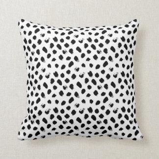 Polka dot black and white pillow cushions