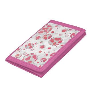 Polka Dot Dalmatian Pink and White Trifold Wallet