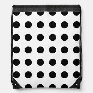 Polka Dot Drawstring Backpack