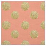 Polka dot: faux glitter, coral fabric